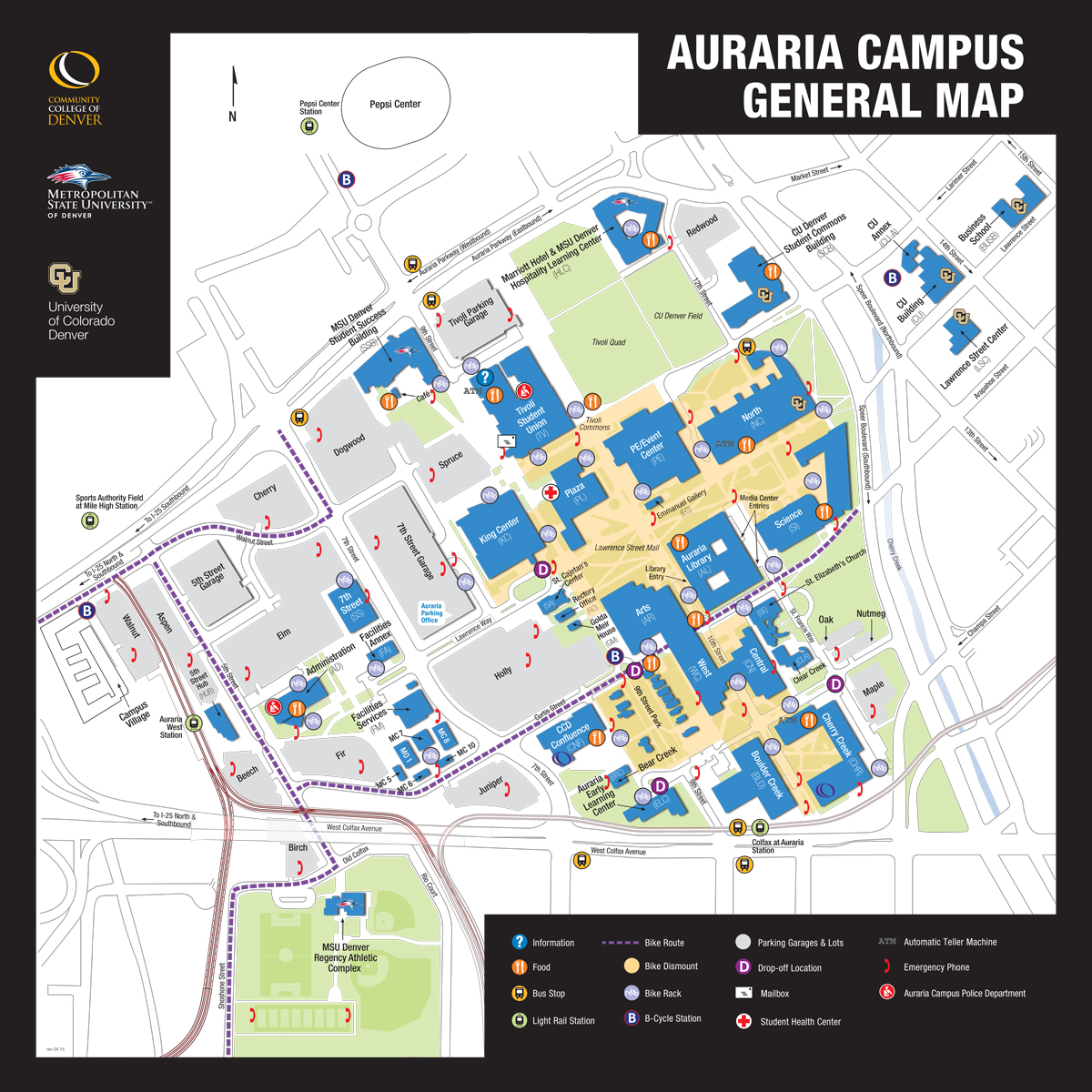 Auraria Campus General Map